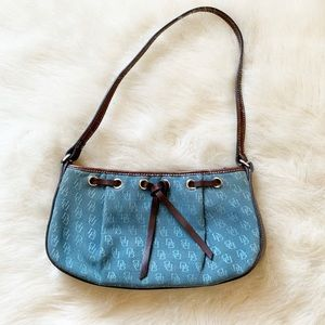 Dooney & Bourke signature blue letter hobo